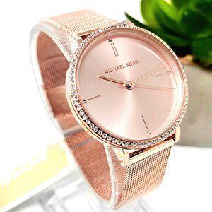 NWT MICHAEL KORS Mini Jayne Rose Gold Watch MK7122